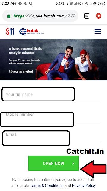 kotak 811 me account kaise khole-kotak mahindra bank me account kaise khole hindi Kotak Mahindra Account