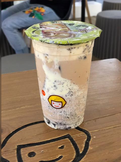 RSC milk tea with oreo cookies and cream