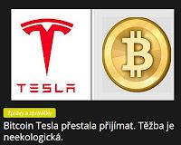 Bitcoin Tesla přestala přijímat. Těžba je neekologická. - AzaNoviny