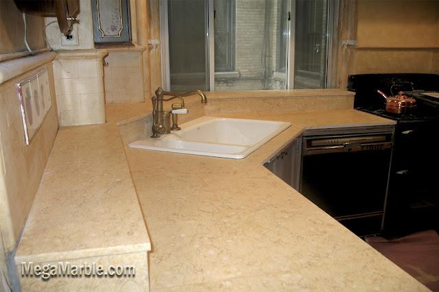 jerusalem beige marble countertop