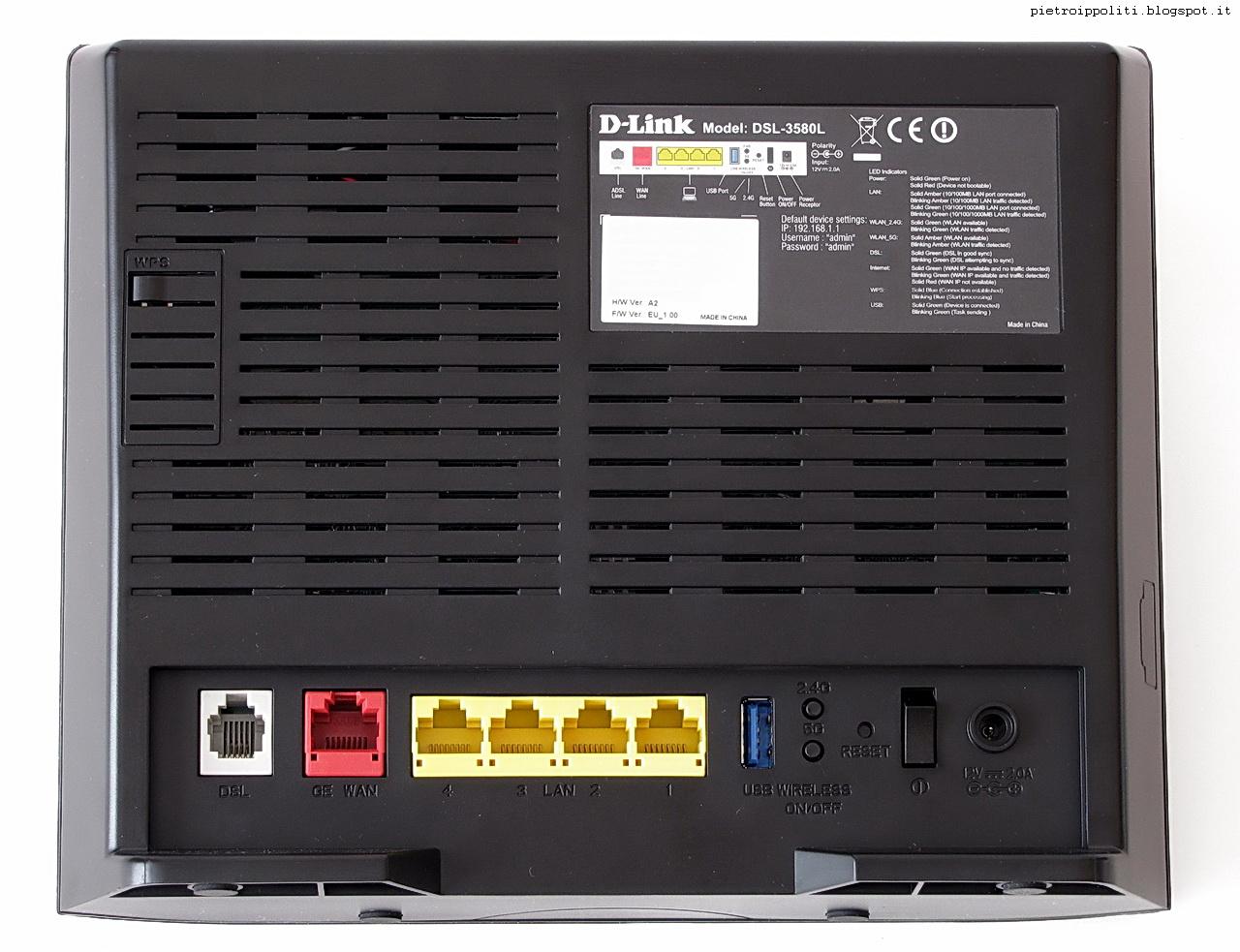 Modem Router ADSL2+ WiFi AC1200 D-link DSL-3580L