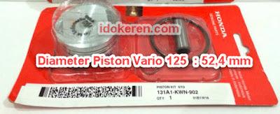 Ukuran Diameter Piston Vario 125