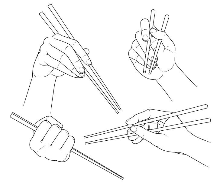 Gambar tangan memegang sumpit