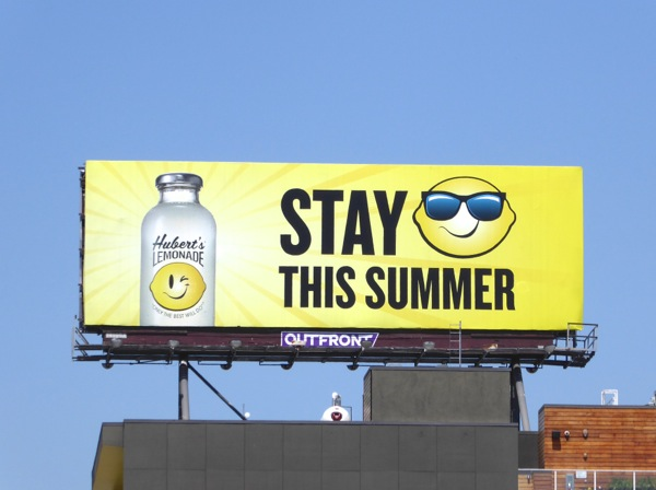 Huberts Lemonade Stay cool this Summer billboard