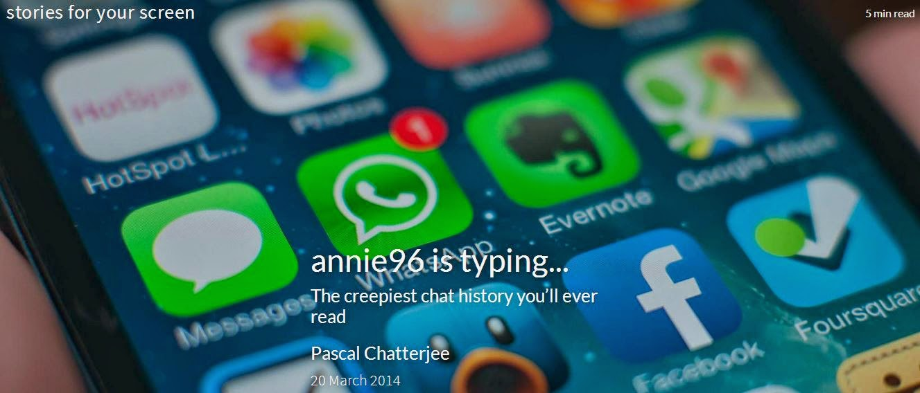 Superbuy: Annie96 is typing    A new way of horror story telling
