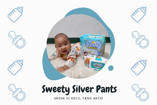 sweety silver pants untuk si kecil yang aktif