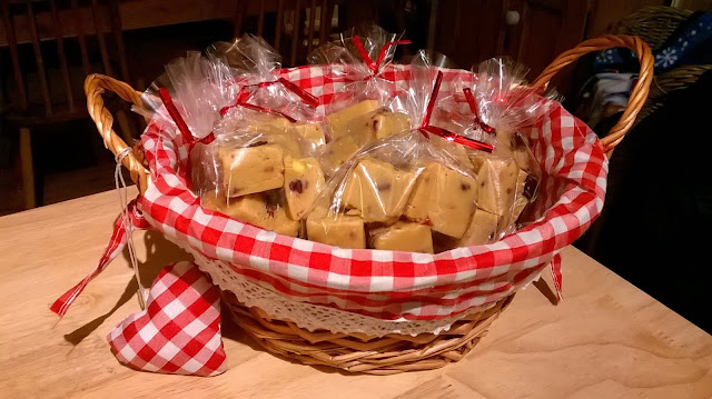 Festive Fudge as made by Mary