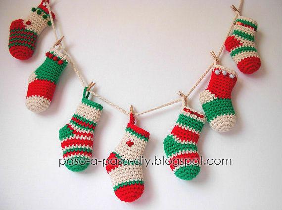 Calcetines para Navidad / Tutorial | Paso a Paso