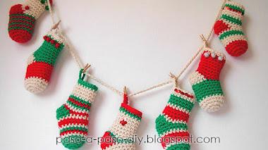 Calcetines para Navidad / Tutorial