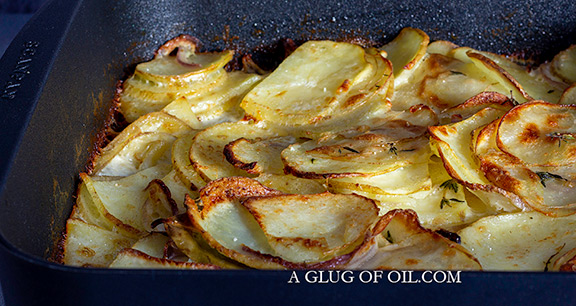 Quick Dauphinoise out of the oven