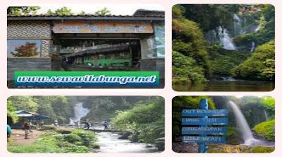 Wisata Curug Tilu Leuwi Opat Lembang Dekat Villa Istana Bunga