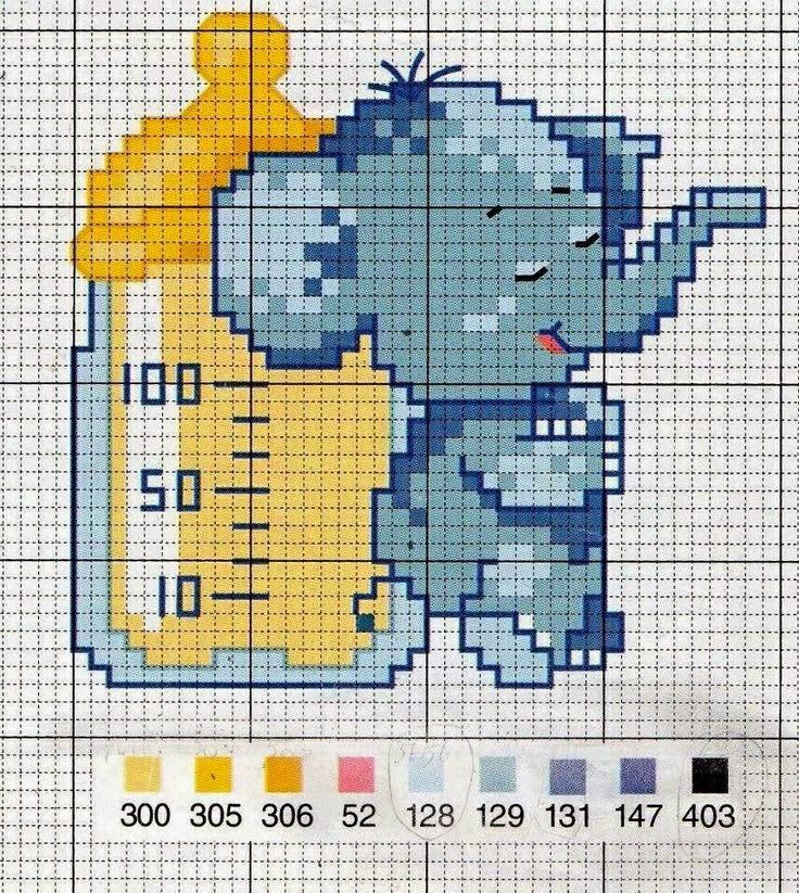 Lo spazio di lilla a gentile richiesta gli schemi punto for Schemi punto croce per bavaglini