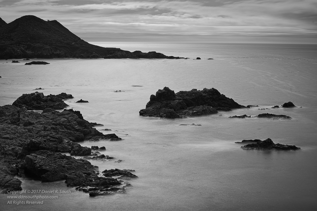 a photo of the big sur coast in black and white by daniel south photography