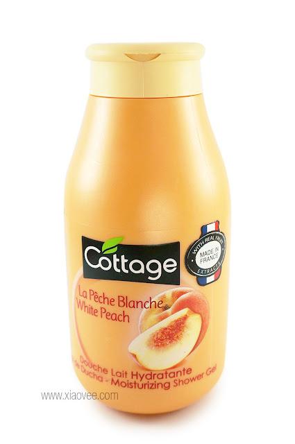 Cottage White Peach Shower Gel La Pêche Blanche, Cottage White Peach Shower Gel La Pêche Blanche Review, Cottage Milk Bath, Cottage Indonesia Review