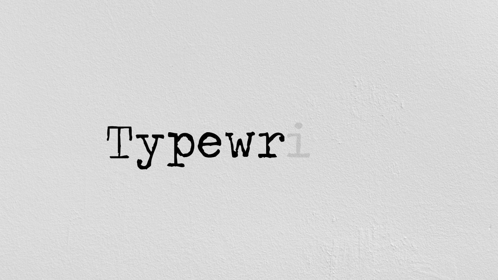 typewriter text free download