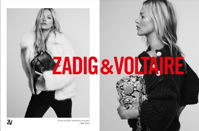 Kate Moss in Zadig & Voltaire Fall 2019 Campaign by Fred Meylan