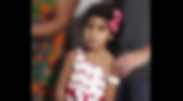 Menina de 05 anos de idade, morre engasgada em Caruaru no Agreste de Pernambuco.