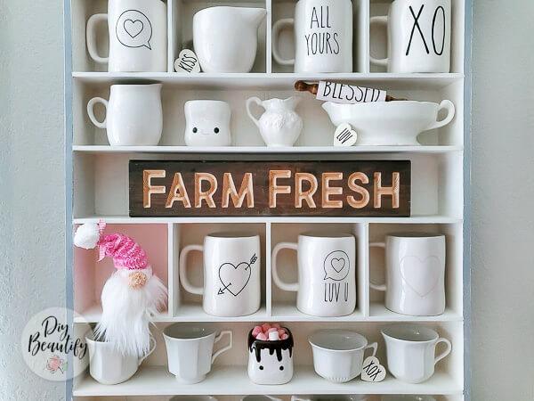 farmhouse mug storage