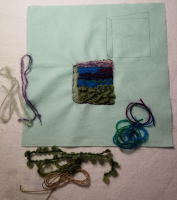 Book image with the yarns used for couched embroidery