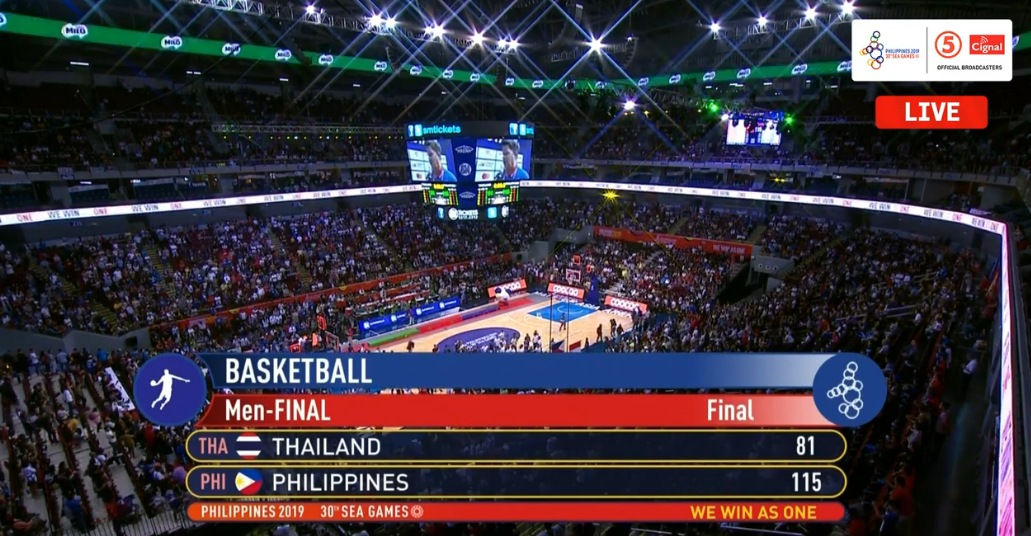 Gilas Pilipinas def. Thailand, 115-81 (REPLAY VIDEO) Men's 5x5 Basketball Gold | SEA Games 2019 | December 10