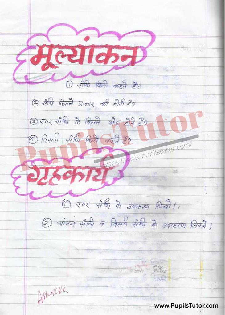 Swar Sandhi Lesson Plan | Vyanjan Sandhi Lesson Plan | Visarga Sandhi Lesson Plan | Sandhi Viched Lesson Plan