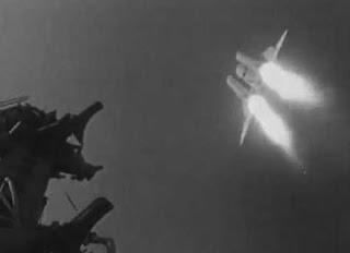Immagine del missile Burya che lascia la rampa di lancio.