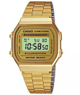 Casio Gents Chrono Digital Luminance Watch A168WG-9WDF - Gold