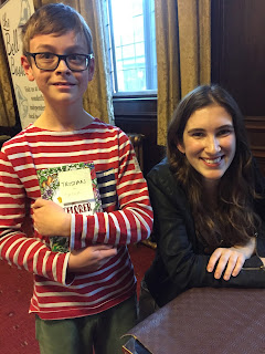 Blogger's son and children's author Katherine Rundell, writer of The Explorer