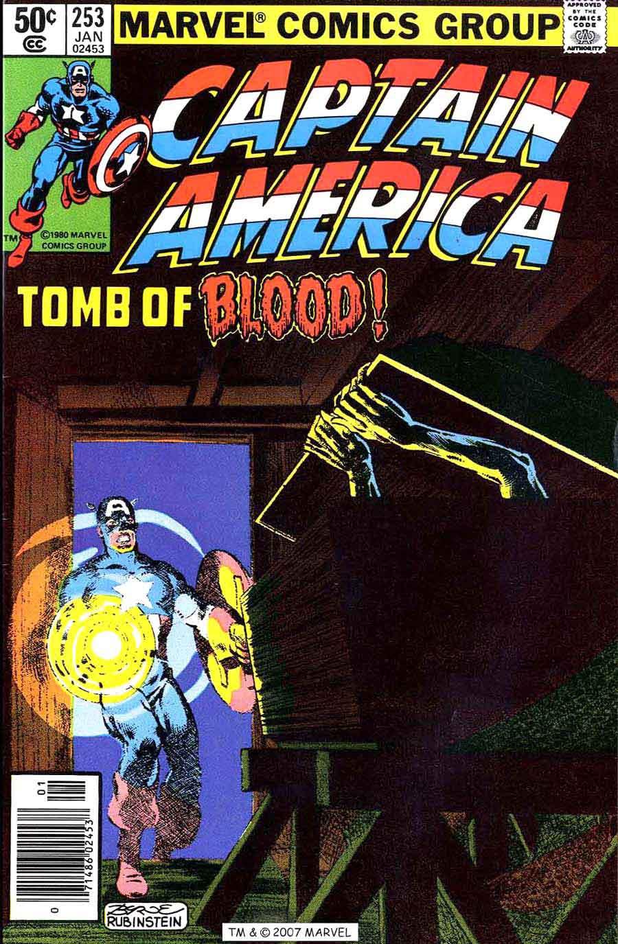 Captain America #253 marvel 1980s bronze age comic book cover art by John Byrne