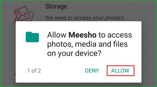 Meesho-storage-permission