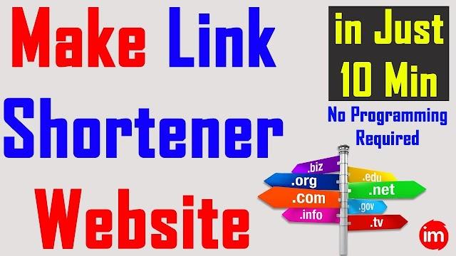 Make A Link Shortner Website [Very Easily]