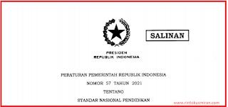 DOWNLOAD PP NOMOR 57 TAHUN 2021 TENTANG STANDAR NASIONAL PENDIDIKAN