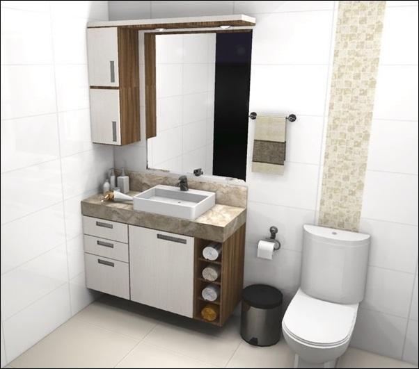 balcão banheiro sob medida