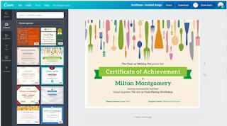 buat sertifikat naik kelas canva