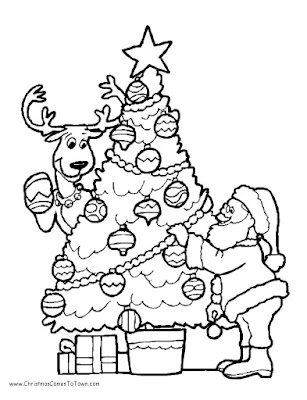 Merry Christmas Coloring Sheets 2018