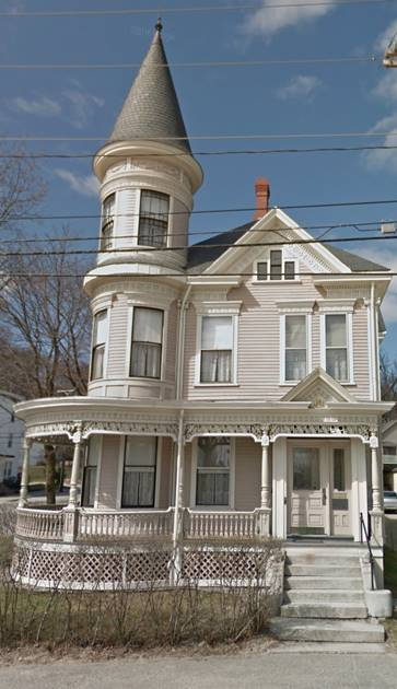 The Holman Day House at 2 Goff Street, Lewiston, ME (Courtesy Google Street View)