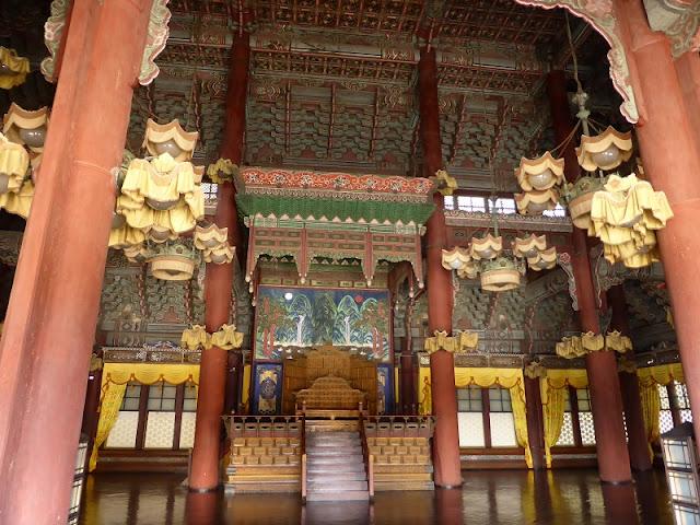 Salón del trono del Palacio de Changdeokgung