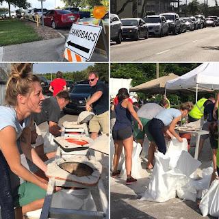 Images from Saint Petersburg, Florida on Hurricane sandbag giveaway