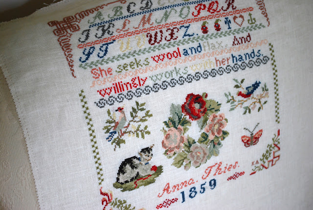 Anna Thies reproduction sampler