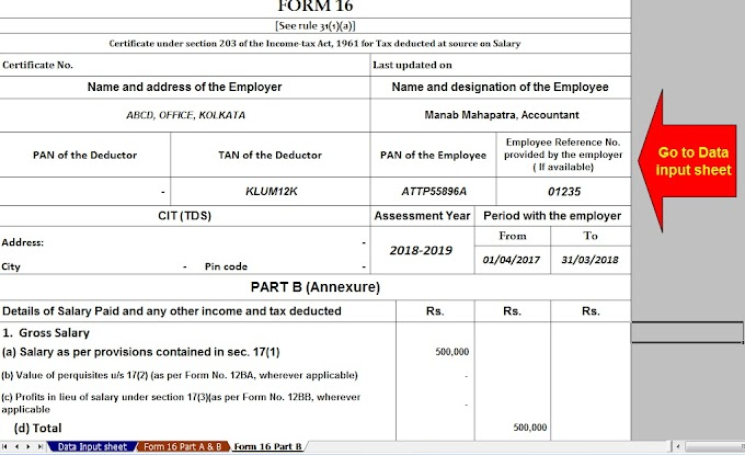 What is the requirement of Income Tax Form 16 to salaried persons? With Automated Master of Form 16 Part B for F.Y.2017-18 and A.Y.2018-19