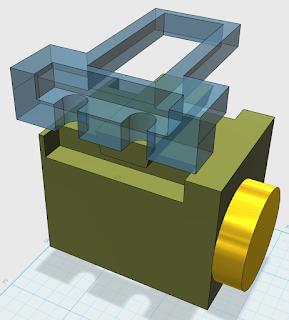 123D drawing of custom dec plate over top Vixen motor