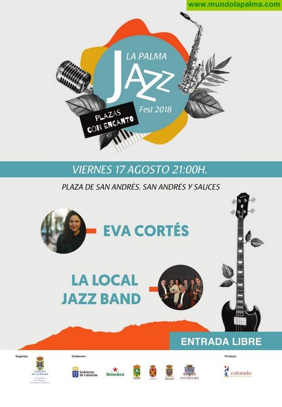 Los conciertos de Eva Cortés y La Local Jazz Band cierran este viernes en San Andrés y Sauces el Festival Internacional de Jazz de La Palma 2018
