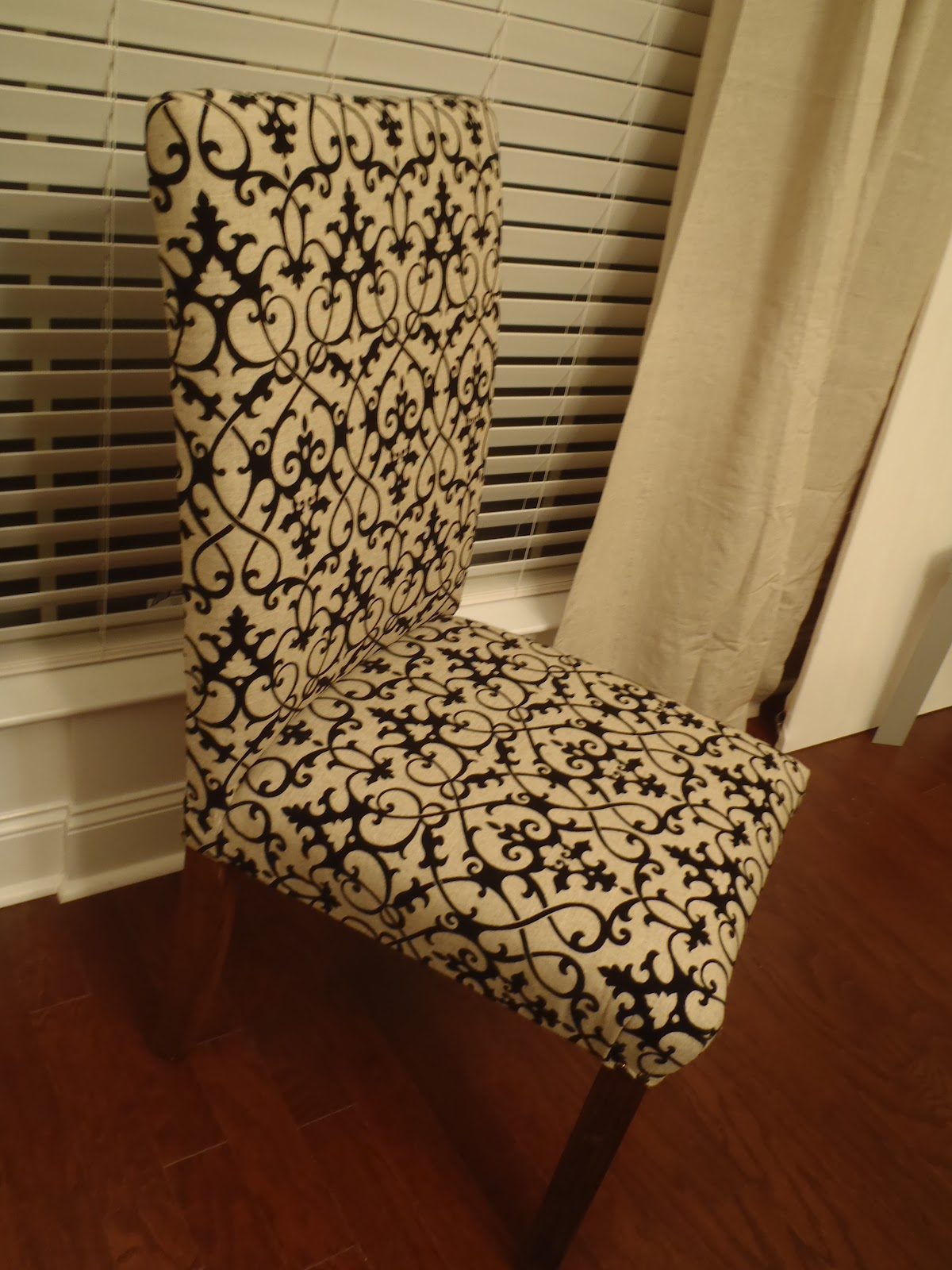 Dining Room Chair Covers Near Me Rail At Lowes Lazy Liz On Less Diy Chairs Finally Finished Them
