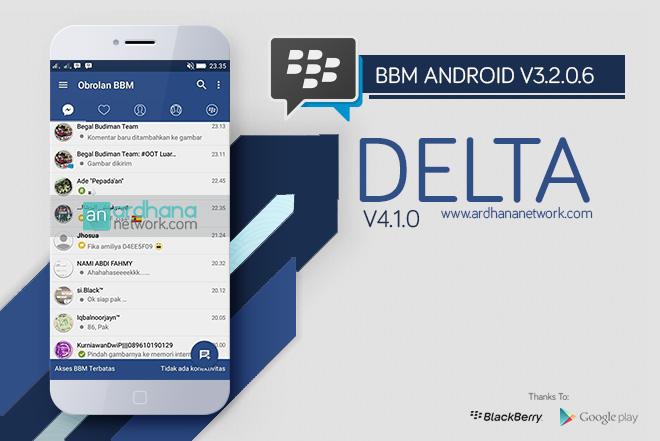 Delta BBM V4.1.0 - BBM MOD Android V3.2.5.12