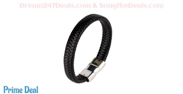30%OFF Men's Bracelet Zinc Alloy Charm Couple Bracelet Black Brown Leather Distance Bracelet for Women Jewelry Gifts Large Size 8.5 Inch