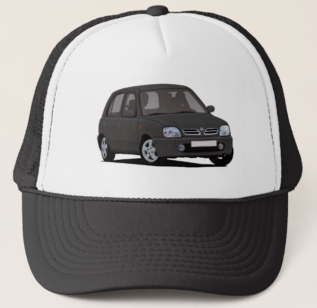Car cap - Nissan Micra or March trucker hat