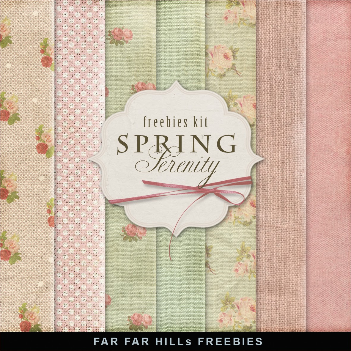 Freebies Kit of Background - Spring Serenity