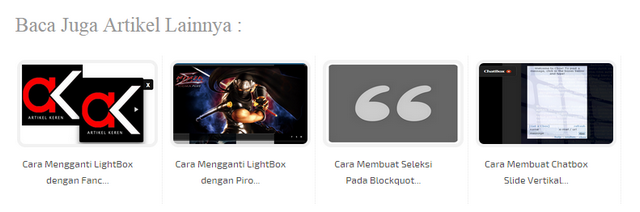 Membuat Related posts Thumbnail Terbaru