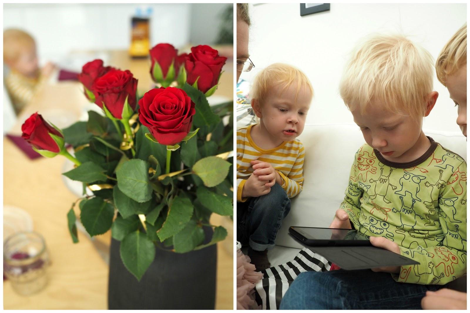 ruusuja, synttärit