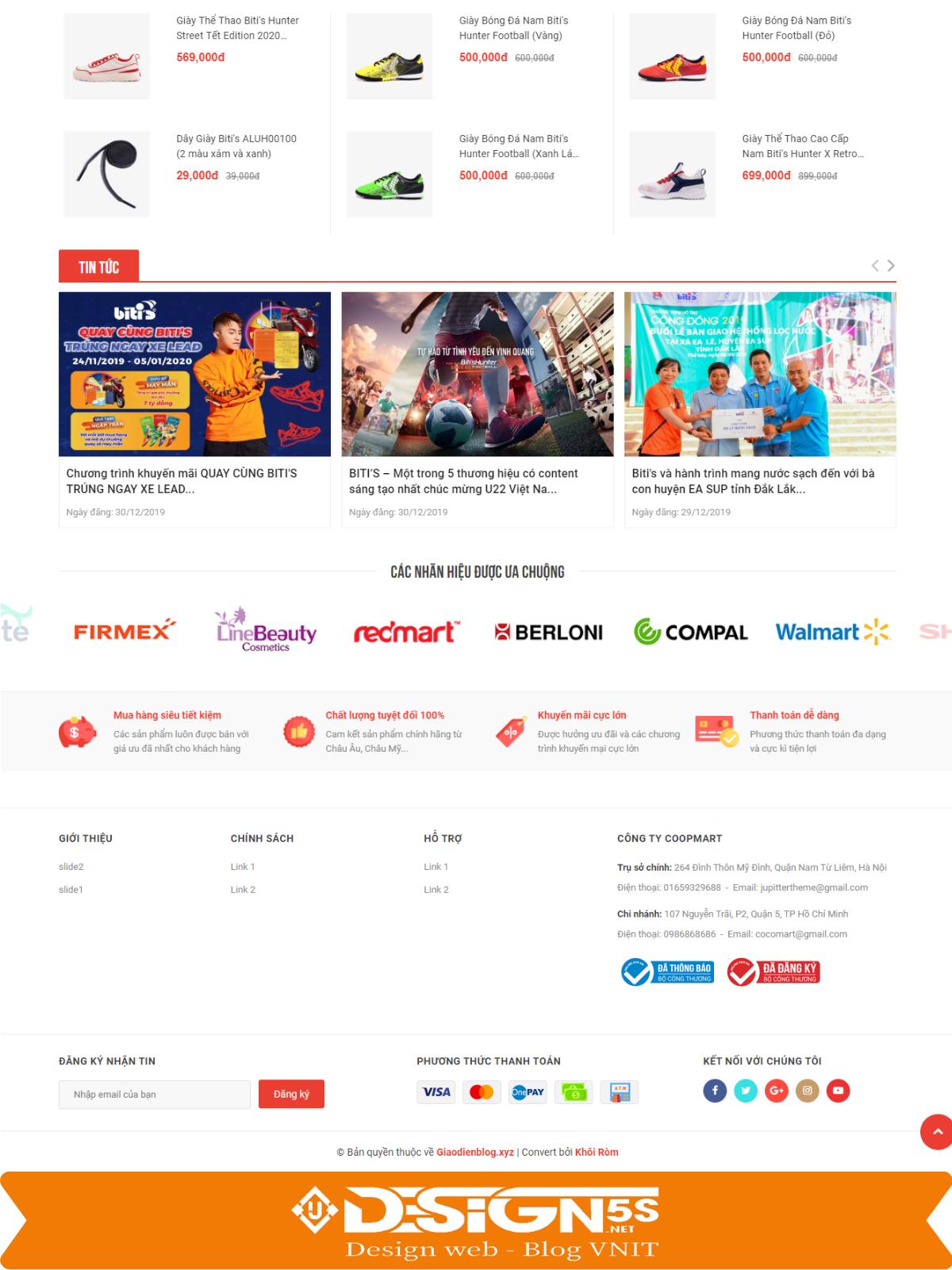 Mẫu Website bán hàng Cocomart Green chuẩn seo - Ảnh 2